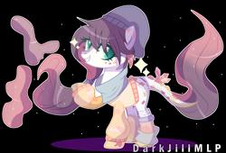 Size: 3567x2420   Tagged: safe, artist:darkjillmlp123, oc, oc:alice (darkjillmlp), original species, pony, clothes, female, simple background, solo, transparent background