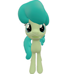 Size: 653x720 | Tagged: safe, artist:topsangtheman, green jewel, earth pony, pony, 3d, looking at you, simple background, solo, source filmmaker, transparent background