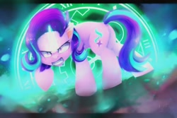 Size: 1500x1000 | Tagged: safe, artist:lostdreamm, starlight glimmer, pony, unicorn, angry, butt, female, glowing horn, horn, mare, plot, solo