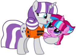 Size: 1222x893 | Tagged: safe, artist:徐詩珮, twilight velvet, oc, oc:bubble sparkle, pony, bubbleverse, series:sprglitemplight diary, series:sprglitemplight life jacket days, series:springshadowdrops diary, series:springshadowdrops life jacket days, alternate universe, baby, baby pony, base used, clothes, female, grandmother and grandchild, grandmother and granddaughter, lifejacket, magical lesbian spawn, magical threesome spawn, multiple parents, next generation, offspring, parent:glitter drops, parent:spring rain, parent:tempest shadow, parent:twilight sparkle, parents:glittershadow, parents:sprglitemplight, parents:springdrops, parents:springshadow, parents:springshadowdrops, simple background, transparent background