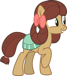 Size: 4000x4539 | Tagged: safe, artist:melisareb, yona, earth pony, pony, she's all yak, .svg available, absurd resolution, cute, female, inkscape, mare, ponified, pony yona, raised hoof, simple background, smiling, solo, species swap, transparent background, vector, yonadorable