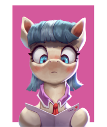 Size: 2150x2550 | Tagged: safe, artist:vanillaghosties, coco pommel, earth pony, pony, atg 2020, blushing, female, hoof hold, letter, love letter, mare, newbie artist training grounds, reading, solo