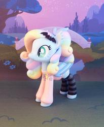 Size: 697x850   Tagged: safe, artist:krowzivitch, oc, oc:spectral prism, bat pony, pony, clothes, female, figurine, hoodie, irl, mare, photo, solo