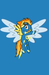 Size: 1440x2176 | Tagged: safe, artist:windy breeze, spitfire, pegasus, pony, clothes, goggles, solo, uniform, wonderbolts, wonderbolts uniform