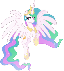 Size: 3853x4261 | Tagged: safe, artist:anime-equestria, princess celestia, alicorn, confident, crown, hoof shoes, horn, jewelry, majestic, regalia, simple background, sparkles, transparent background, vector, wings