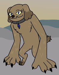 Size: 1198x1517 | Tagged: safe, artist:sum1-else, oc, oc only, oc:ruby blue, diamond dog, diamond dog oc, female, solo