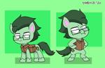 Size: 2427x1590 | Tagged: safe, artist:dimbulb, oc, oc:dimbulb, earth pony, pony, my little pony: pony life, pony life, clothes, glasses, male, stallion