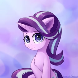 Size: 1280x1280 | Tagged: safe, artist:emeraldgalaxy, starlight glimmer, pony, unicorn, cute, female, glimmerbetes, mare, solo