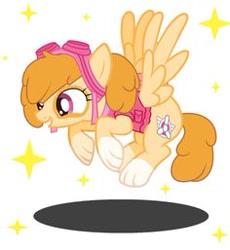 Size: 236x257 | Tagged: safe, artist:machakar52, dog, dog pony, pegasus, pony, crossover, female, logo, mare, nick jr., nickelodeon, paw patrol, ponified, pup, simple background, skye (paw patrol), sparkles, white background, wings
