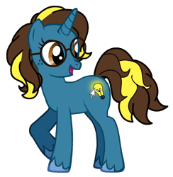 Size: 532x544 | Tagged: safe, artist:a-bright-idea, oc, oc only, oc:bright idea, simple background, solo, transparent background