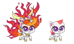 Size: 6667x4000 | Tagged: safe, artist:mycaro, nightmare star, princess celestia, alicorn, pony, my little pony: pony life, .ai available, .svg available, absurd resolution, base, ear piercing, earring, eyeshadow, female, fire, g4 to g4.5, jewelry, looking at you, makeup, mane of fire, mare, my little pony: pony life base, peytral, piercing, pony life accurate, raised hoof, regalia, resource, show accurate, simple background, slit eyes, smiling, smug, solo, spread wings, transparent background, vector, wings