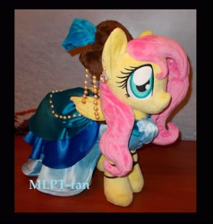 Size: 640x480 | Tagged: safe, artist:calusariac, fluttershy, pony, clothes, dress, irl, photo, plushie, solo