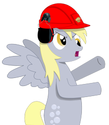 Size: 1393x1608 | Tagged: safe, artist:lazymort, derpy hooves, pony, construction pony, helmet, vector