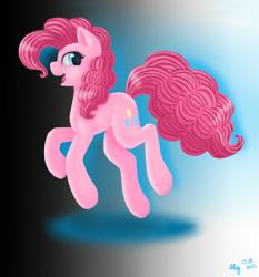 Size: 1400x1500 | Tagged: safe, artist:nastya-lazy-cat, pinkie pie, earth pony, pony, female, gradient background, happy, solo