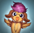 Size: 2549x2480 | Tagged: safe, artist:rainihorn, scootaloo, cute, cutealoo, floppy ears, high res, licking, looking at you, solo, spread wings, tongue out, wings
