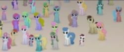 Size: 313x132 | Tagged: safe, screencap, cornsilk, earth pony, pony, unicorn, my little pony: the movie, background pony, canterlot, cropped, female, filly, male, mare, offscreen character, stallion, unnamed character, unnamed pony