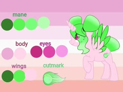 Size: 876x654 | Tagged: safe, artist:lacey.wonder, oc, oc only, alicorn, pony, alicorn oc, eye clipping through hair, horn, raised hoof, reference sheet, solo, wings