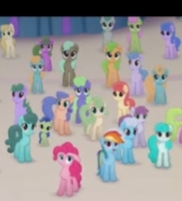 Size: 182x201   Tagged: safe, screencap, pinkie pie, rainbow dash, earth pony, pony, unicorn, my little pony: the movie, background pony, canterlot, cropped, female, male, mare, offscreen character, picture for breezies, stallion, unnamed character, unnamed pony
