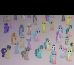 Size: 263x231   Tagged: safe, screencap, earth pony, pony, unicorn, my little pony: the movie, background pony, canterlot, cropped, female, filly, mare, offscreen character, unnamed character, unnamed pony