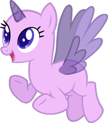 Size: 1065x1215 | Tagged: safe, artist:pegasski, oc, oc only, alicorn, pony, tanks for the memories, alicorn oc, bald, base, eyelashes, eyes closed, flying, grin, horn, raised hoof, simple background, smiling, solo, transparent background, two toned wings, underhoof, wings