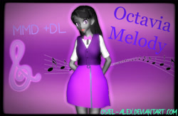 Size: 2592x1689   Tagged: safe, artist:osiel-alex, octavia melody, equestria girls, 3d, bowtie, clothes, equestria girls-ified, female, mmd, open mouth, shirt, skirt, solo, vest