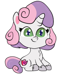 Size: 1000x1000   Tagged: safe, artist:sweetai belle, sweetie belle, my little pony: pony life, cute, simple background, transparent background