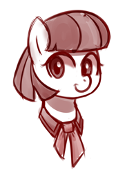 Size: 2902x4000 | Tagged: safe, artist:handgunboi, coco pommel, earth pony, pony, female, simple background, sketch, white background