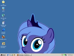 Size: 797x599 | Tagged: artist needed, safe, princess luna, female, filly, solo, spanish, windows, windows 2000, woona, younger