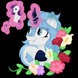 Size: 1600x1600 | Tagged: safe, artist:missmele-madness, rarity, oc, kirin, female, flower, magic, needle, plushie, simple background, transparent background