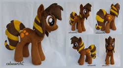 Size: 640x480 | Tagged: safe, artist:calusariac, oc, oc:kazzy, earth pony, pony, female, irl, mare, photo, plushie, solo