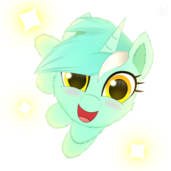 Size: 3000x3000 | Tagged: safe, artist:alexbefest, lyra heartstrings, pony, unicorn, halfbody, simple background, solo, white background