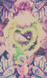 Size: 720x1184 | Tagged: safe, artist:wrath-marionphauna, edit, spike, dragon, my little pony: the movie, picsart, solo