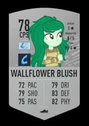 Size: 620x874 | Tagged: safe, wallflower blush, equestria girls, card, fifa ultimate team, fut draft, solo