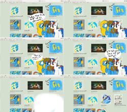 Size: 2534x2236 | Tagged: safe, artist:furrgroup, oc, oc:apple, oc:internet explorer, oc:safari, earth pony, pony, ask internet explorer, browser ponies, deviantart watermark, internet explorer, obtrusive watermark, ponified, watermark