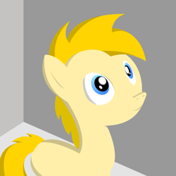 Size: 768x768 | Tagged: safe, artist:edchdx, oc, oc:sky hanger, earth pony, solo