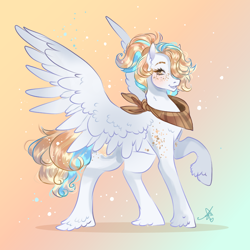 Size: 1000x1000 | Tagged: safe, artist:bunnari, oc, oc:sea shell, pegasus, pony, female, mare, solo