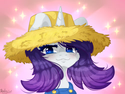 Size: 2400x1800 | Tagged: safe, artist:kindny-chan, rarity, pony, simple ways, rarihick, solo