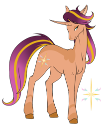 Size: 1024x1213 | Tagged: safe, artist:oneiria-fylakas, starlight glimmer, sunset shimmer, pony, unicorn, fusion, simple background, solo, transparent background
