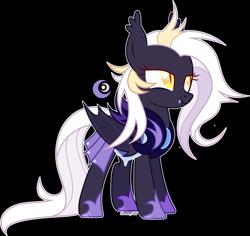 Size: 2756x2602 | Tagged: safe, artist:rerorir, oc, oc:double moon, bat pony, pony, armor, female, night guard armor, simple background, solo, solo female, transparent background