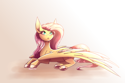 Size: 3000x2000 | Tagged: safe, artist:spirit-fire360, fluttershy, pegasus, :o, open mouth, solo
