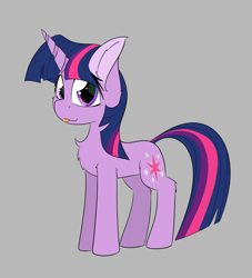 Size: 2362x2598 | Tagged: safe, artist:jubyskylines, twilight sparkle, unicorn, chest fluff, solo, tongue out