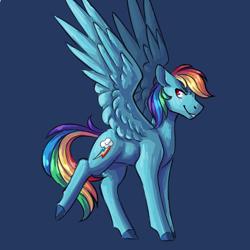 Size: 2500x2500 | Tagged: safe, artist:flaming-trash-can, rainbow dash, pegasus, pony, solo