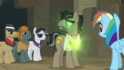 Size: 1920x1080 | Tagged: safe, screencap, biff, doctor caballeron, rainbow dash, rogue (character), withers, daring doubt, henchmen, truth talisman