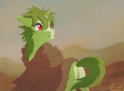 Size: 1200x880 | Tagged: safe, artist:renciel, oc, oc only, oc:spring leaf, pony, unicorn, solo