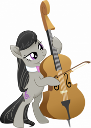 Size: 450x633 | Tagged: safe, artist:juggybuggy305, octavia melody, pony, cello, musical instrument, simple background, solo, transparent background