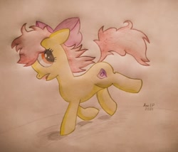 Size: 1080x924 | Tagged: safe, artist:axelp, apple bloom, traditional art