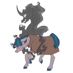 Size: 2953x2952 | Tagged: safe, artist:sourcherry, pony of shadows, stygian, pony, unicorn, angry, clothes, solo, walking