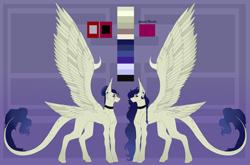 Size: 5005x3313   Tagged: safe, artist:amcirken, oc, oc:serazimelii, pegasus, pony, female, reference sheet, solo, tail feathers