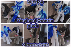 Size: 2000x1340 | Tagged: safe, artist:kuroran, dj pon-3, octavia melody, vinyl scratch, unicorn, advertisement, female, plushie