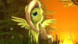 Size: 1280x720 | Tagged: safe, artist:xvclumsybusponevx, fluttershy, pony, 3d, solo